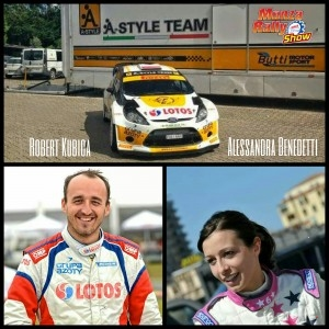 Robert Kubica - Alessandra Benedetti - Monza Rally Show 2014