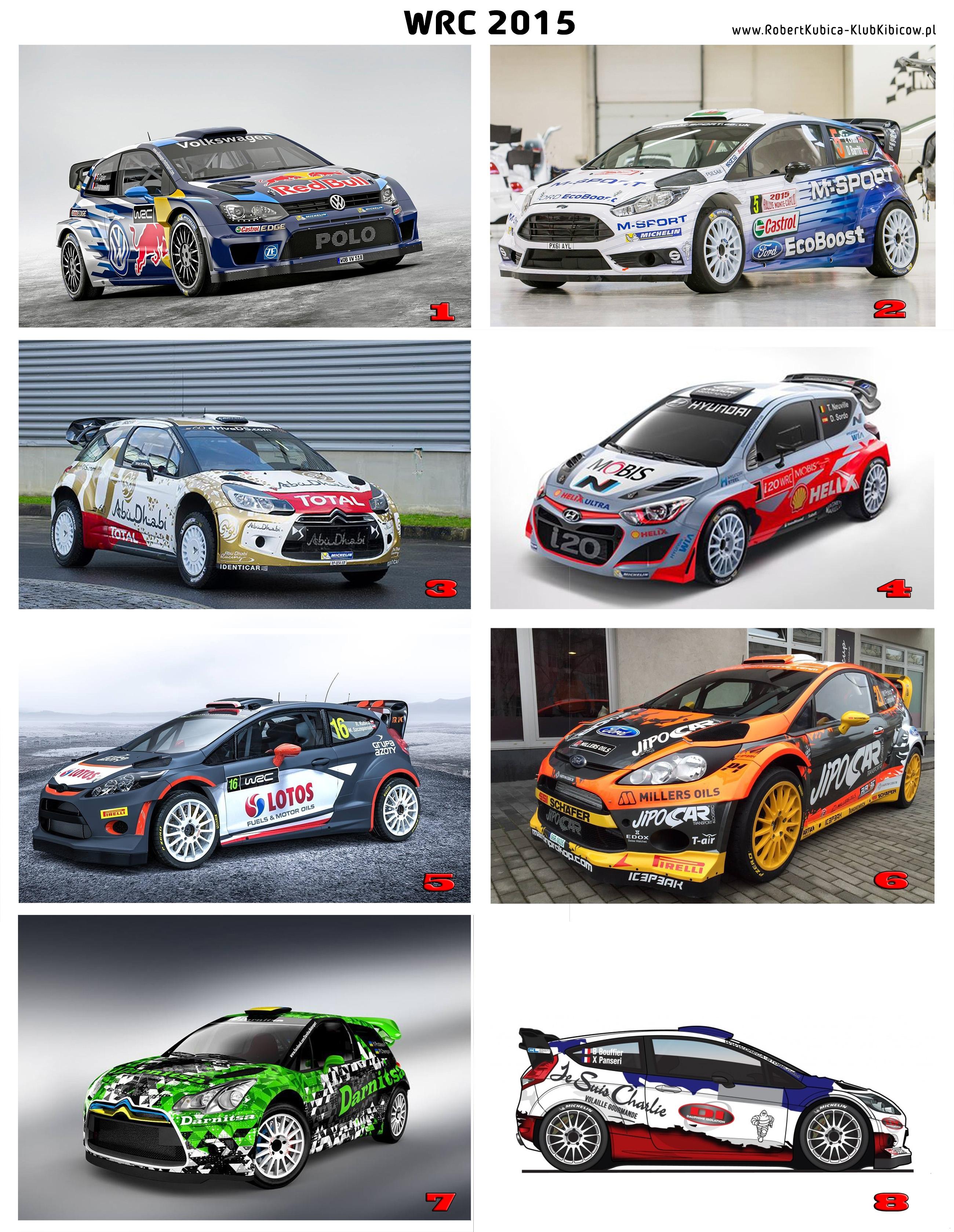 Malowania WRC 2015