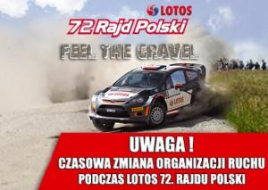 czasowa zmiana organizacji ruchu - 72 Rajd Polski 2015
