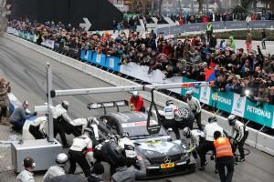 Stars & Cars, Stuttgart, 29.11.2014 Korso 12 - Pit Stop Christian Vietoris, Mercedes AMG C-Coupe DTM