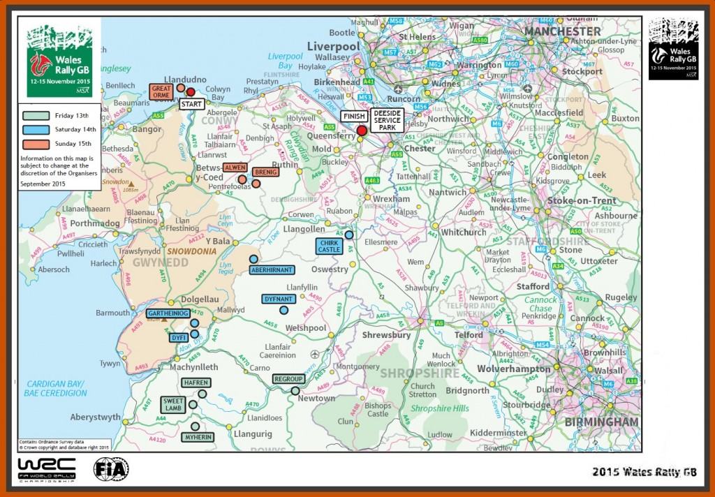 map Wales Rally GB