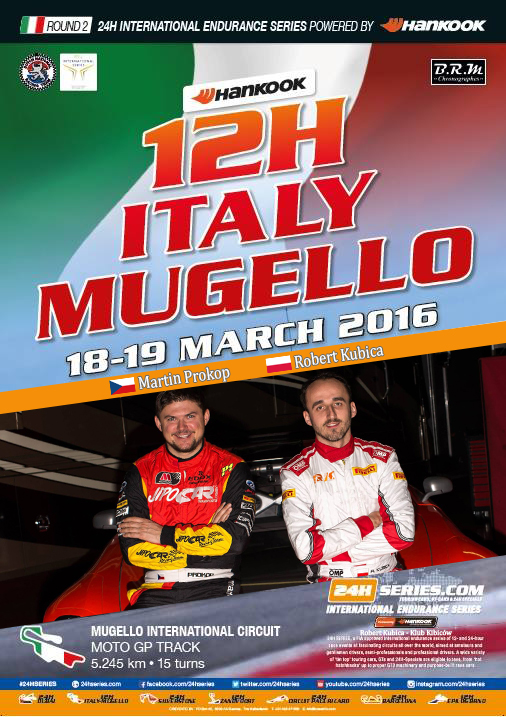 Martin Prokop & Robert Kubica - 12h Italy-Mugello 2016 - Plakat