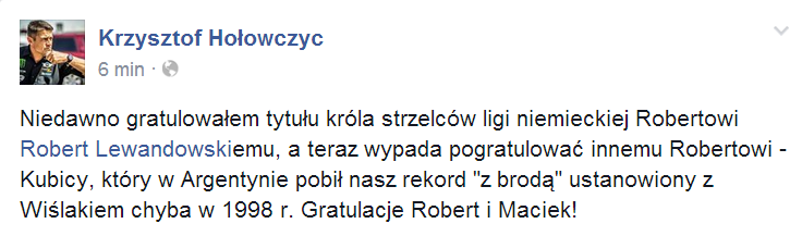Krzysztof Hołowczyc o Robercie Kubicy - meta Rajdu Argentyny 2014