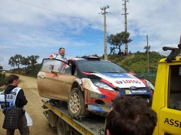 Kubica Szczepaniak - Rajd Portugalii 2014 rally2