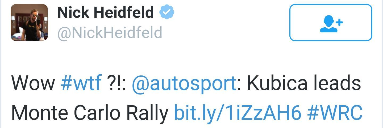 Nick Heidfeld o Kubicy Rajd Monte Carlo 2014