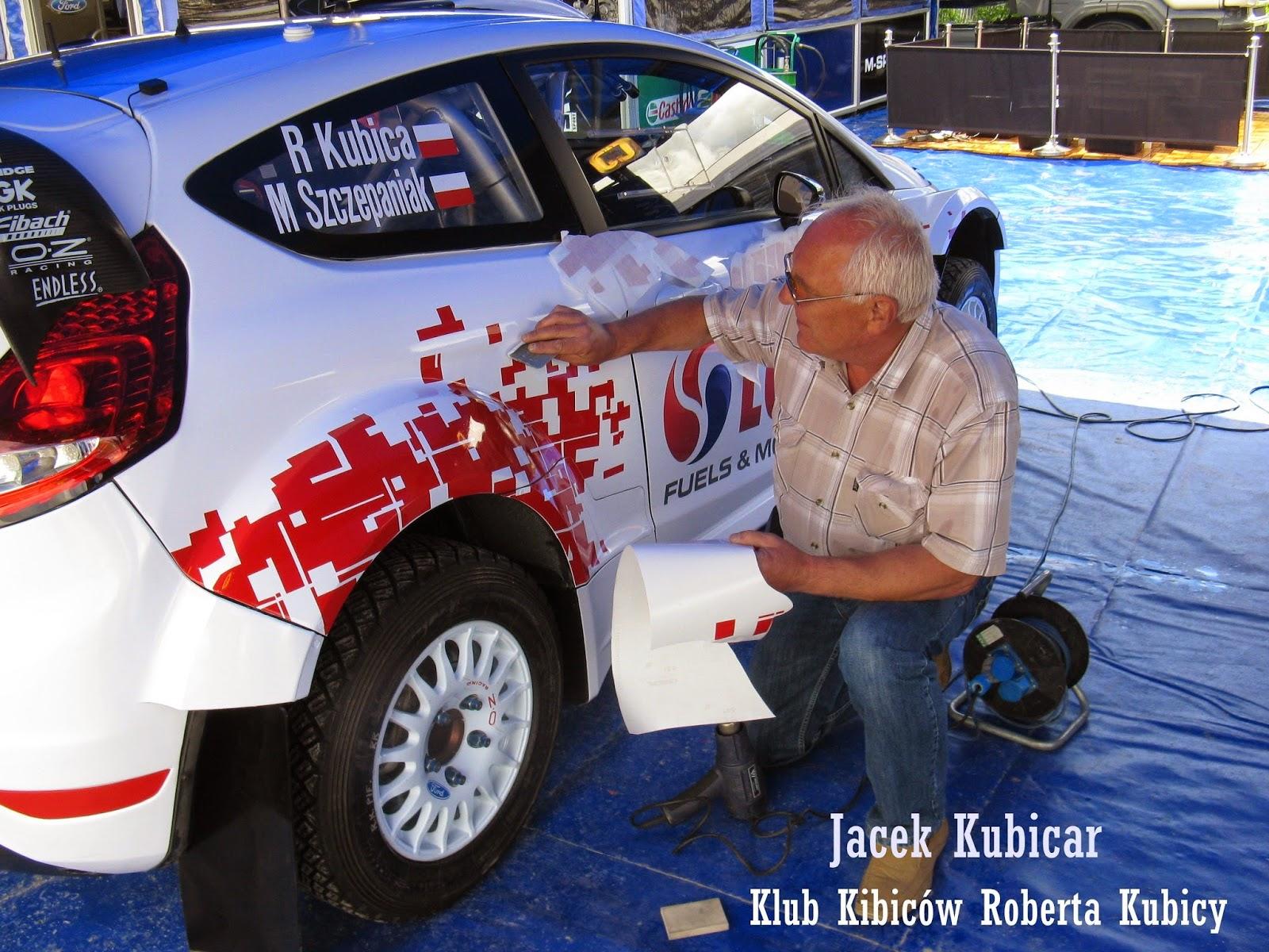 Robert Kubica - Jacek - olejanie auta -Rajd Polski 2014