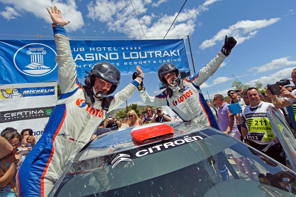 Robert Kubica Maciek Baran 1 win Rajd Grecji