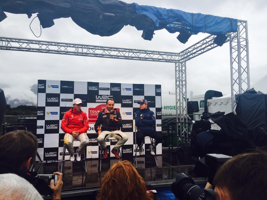 Kubica Szczepaniak wygrywa shakedwon Rajd Finlandii 2015