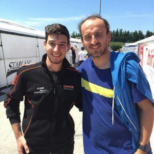 Robert Kubica & Andrea Ambrosio - Karting Adria Raceway