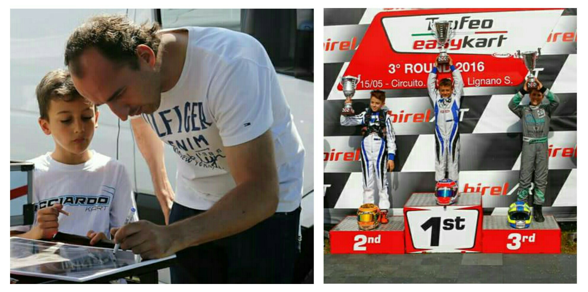 Robert Kubica & Cristian Bertuca - Rok Cup & Trofeo Easy Kart -Lignano Sabbiadoro 2016