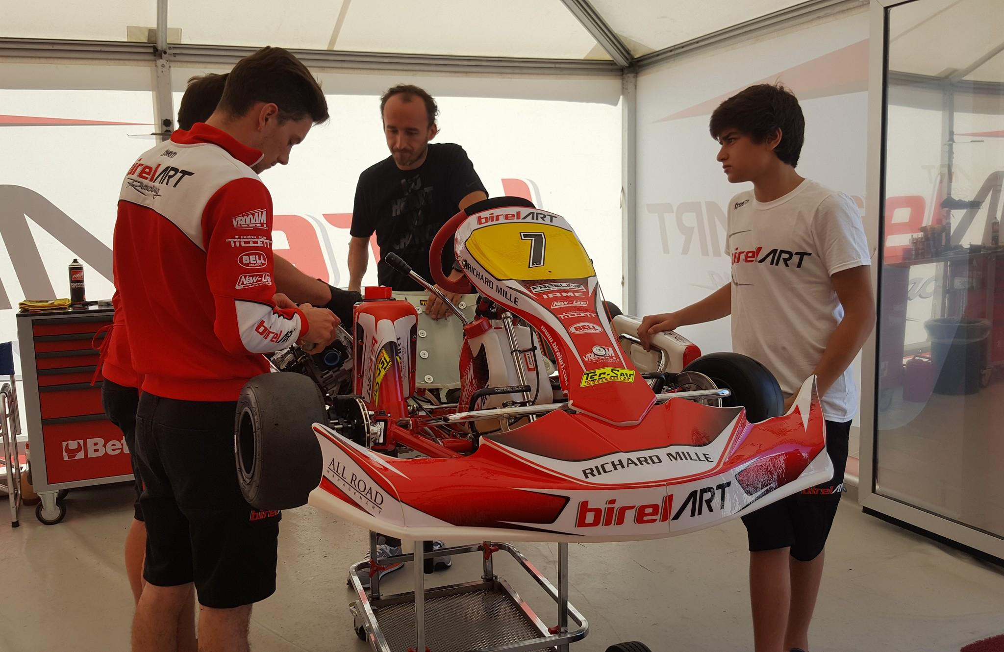 Robert Kubica WSK Master Series Adria InteRobert Kubica -niedziela - WSK Super Master Kartingrnational Raceway