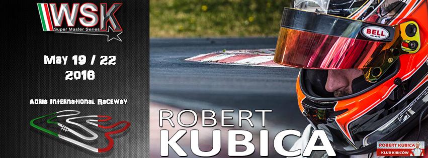 Robert Kubica w WSK Super Master Series Runda 4 Karting