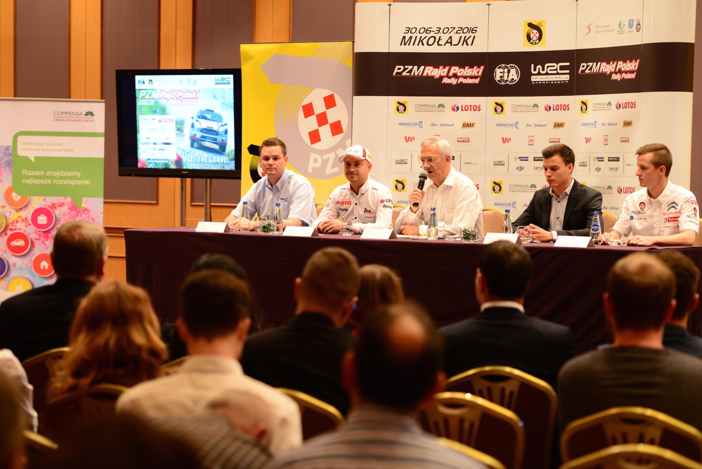 Bezpieczeństwo najważniejsze! - konferencja prasowa 73 Rajd Polski