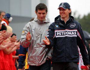 Robert Kubica i Mark Webber