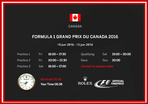 timetable canada