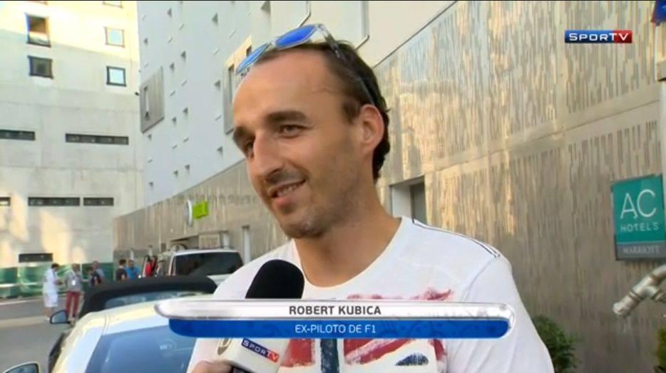 Kubica na meczu Euro 2016 Polska - Portugalia w roli kibica