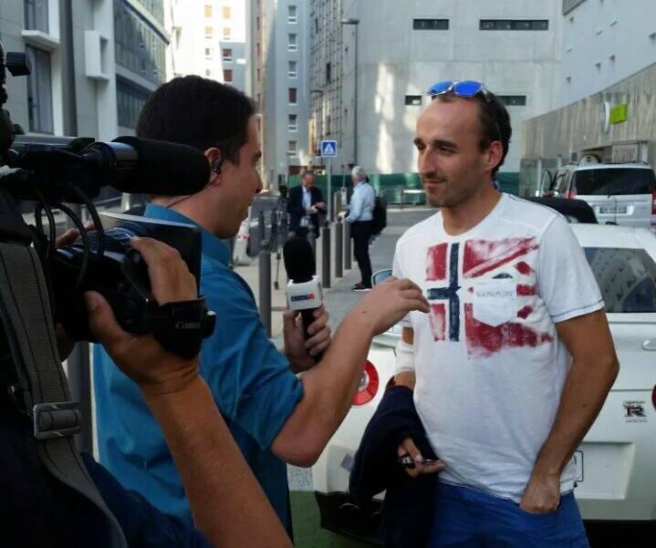Robert Kubica na meczu Euro 2016 Polska - Portugalia w roli kibica