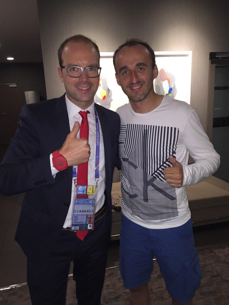 Robert Kubica po meczu Euro 2016 Polska - Portugalia