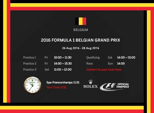 Belgian F1 gp