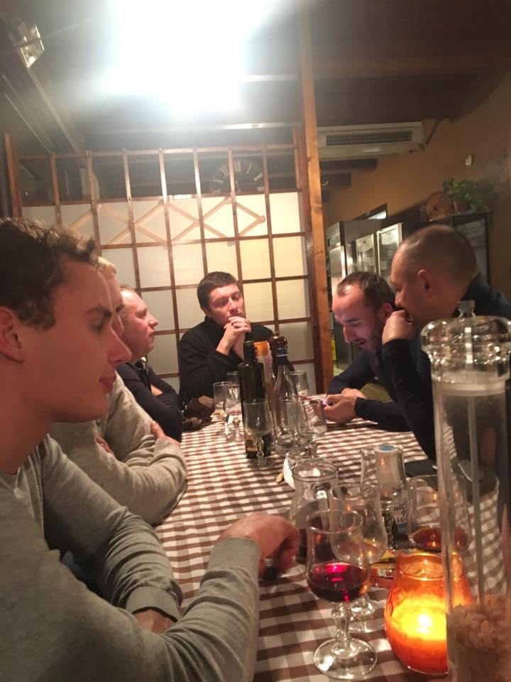 Kubica - kolacja - South Garda Karting w Lonato