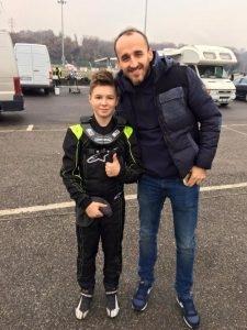 Robert Kubica i Mateusz Lenart na torze kartingowym w Lonato