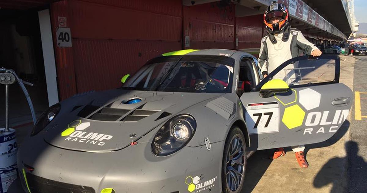 Robert Kubica testuje Porsche 911 GT3 R na torze Circuit de Catalunya