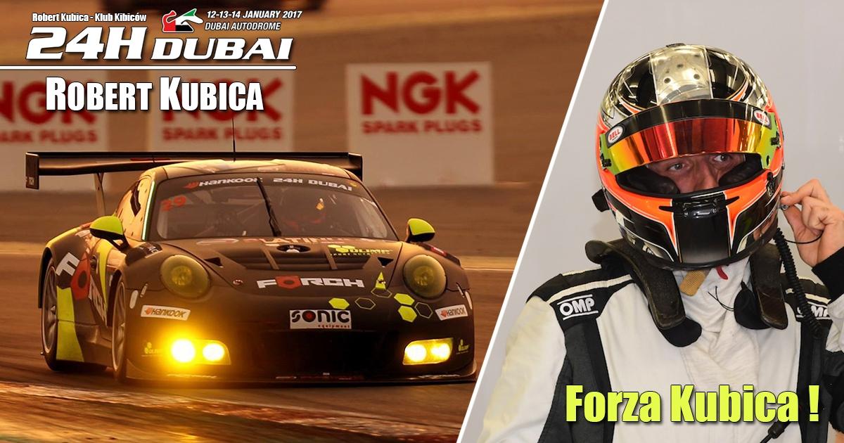 Robert Kubica w 24h Dubai 2017 - Wyścig Live