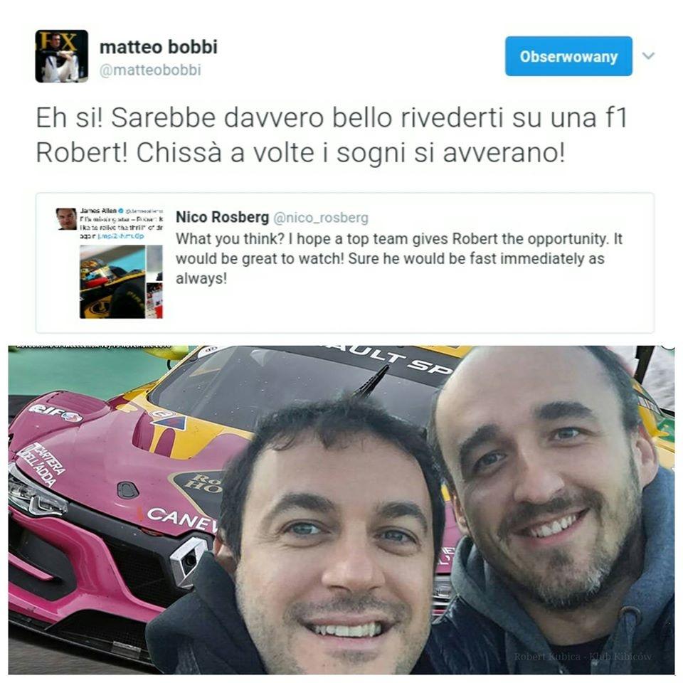 Matteo Bobbi Nico Rosberg Robert Kubica