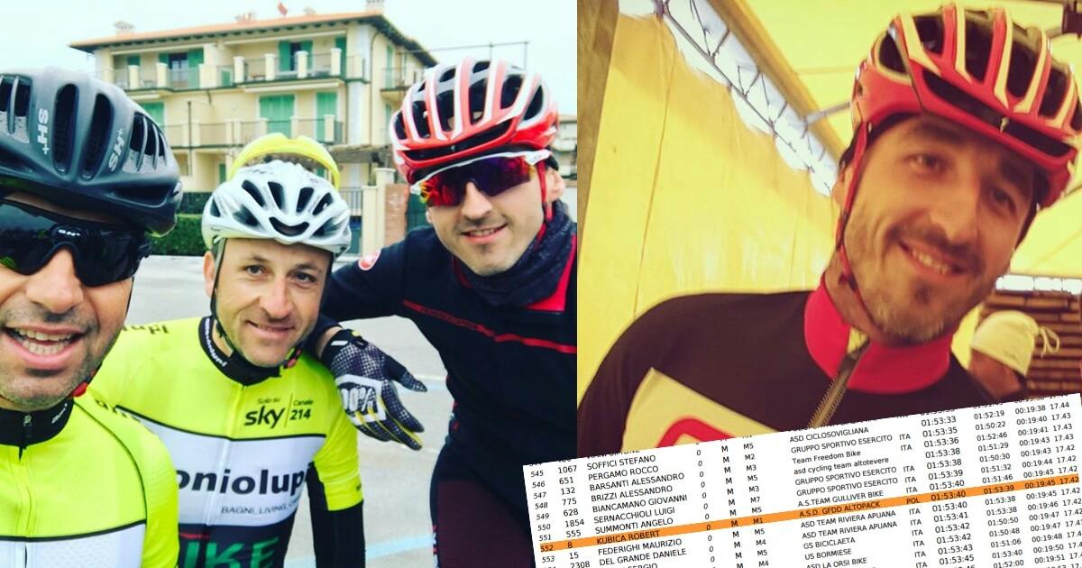 Kubica wystartował w wyścigu kolarskim Granfondo Diavolo w Versilia