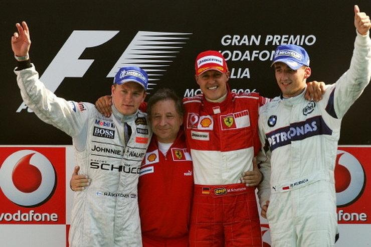 Schumacher Raikkonen Kubica - F1 Italian GP Monza 2006