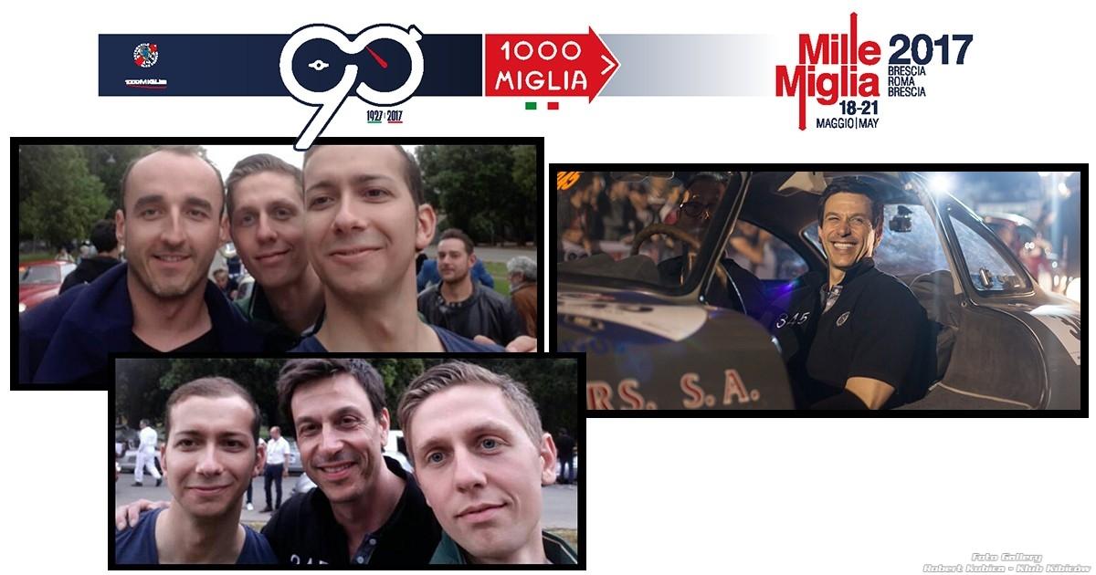 Robert Kubica i Toto Wolff na rajdzie Mille Miglia 2017