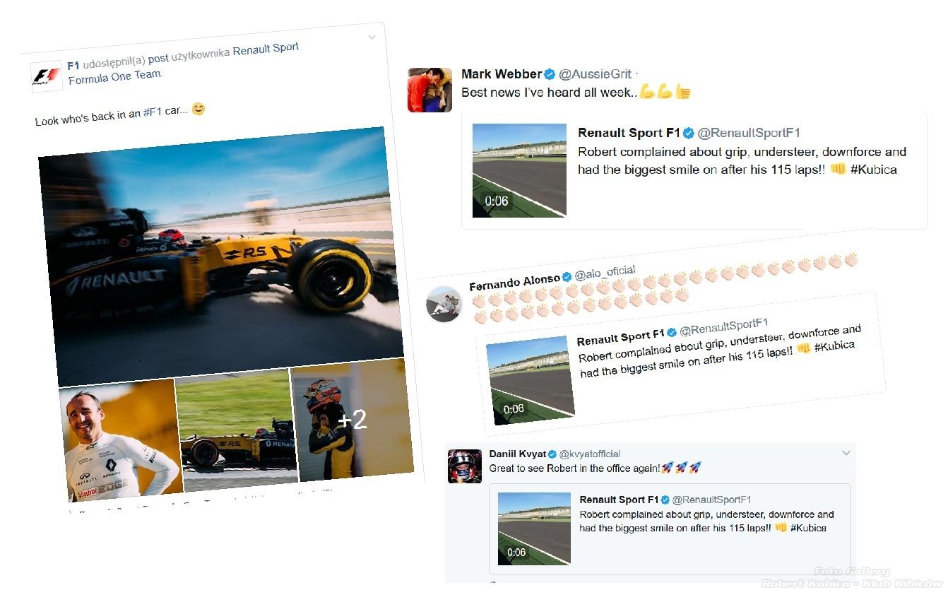 Fernando Alonso, Mark Webber, Daniil Kvyat, a także F1.