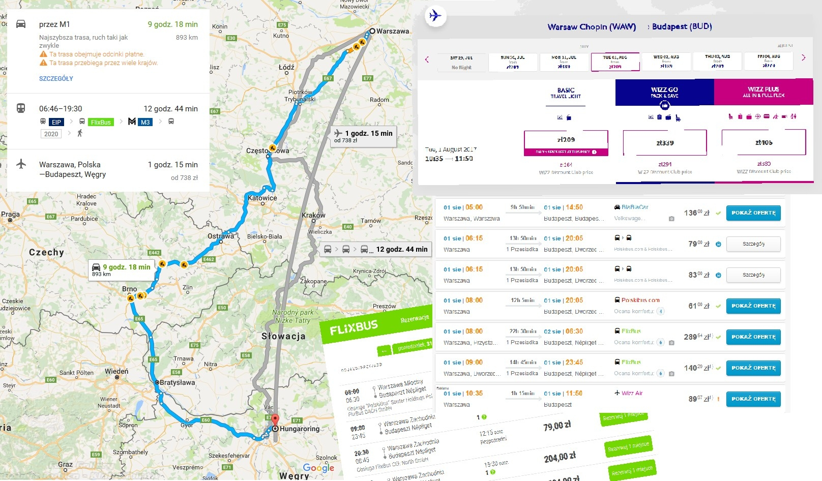 Lot Bus PKP AutoCar - Hungaroring - Robert Kuica testy F1