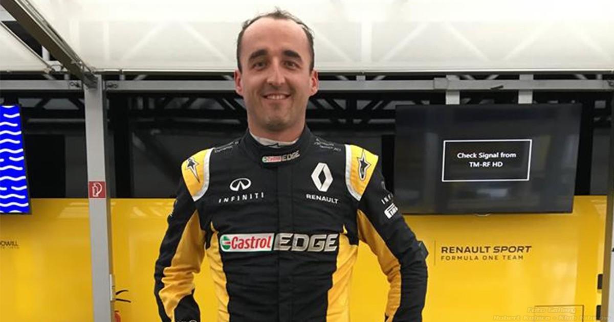 Robert Kubica na oficjalnych testach F1 na Hungaroring