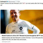 F1 Kubica