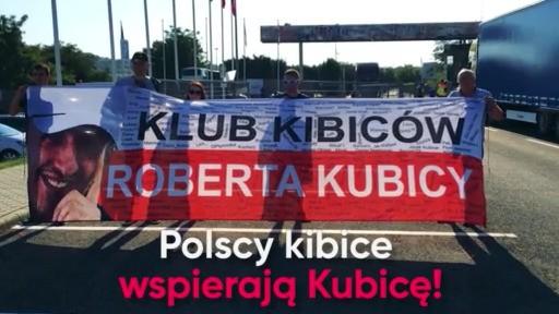 Polscy kibice wspierają Roberta Kubicę - Robert Kubica - Klub Kibiców