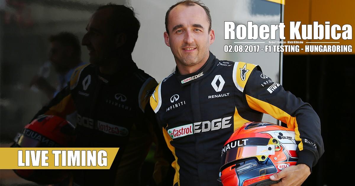 Robert Kubica F1 testy na Hungaroring - Live Timing