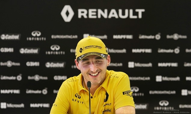 Robert Kubica Hungaroring Konferencja prasowa po testach z udziałem