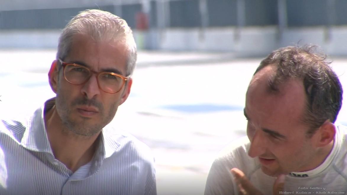 Robert Kubica i menadżer Alessandro Alunni Bravi