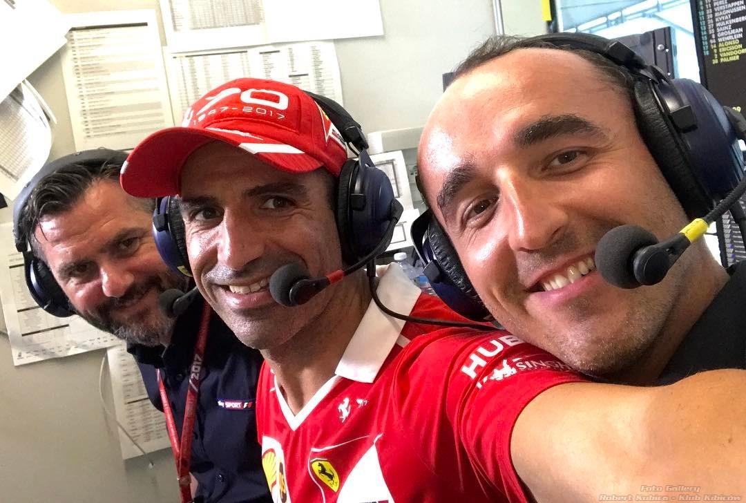 Robert Kubica Carlo Vanzini Marc Gene - Sky Sports F1 Monza 2017
