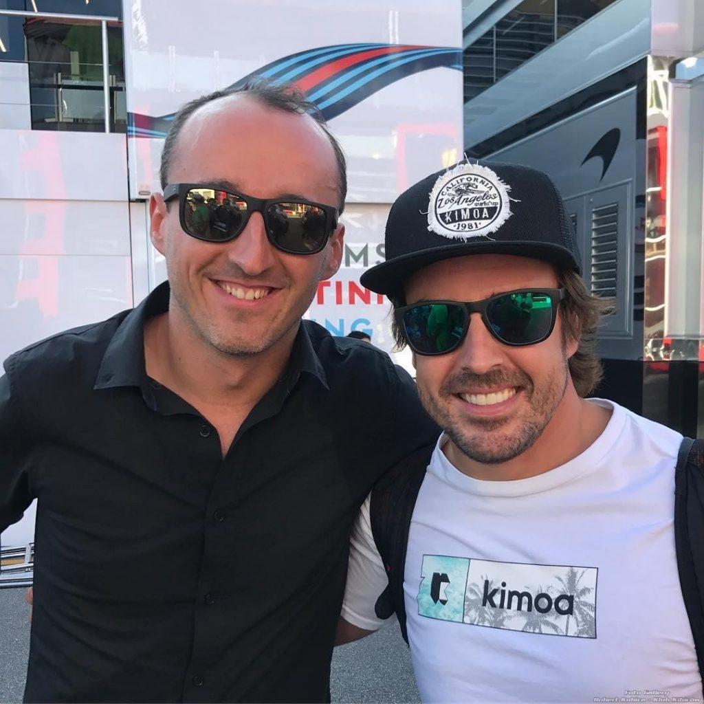 Robert Kubica Fernando Alonso Monza F1 2017
