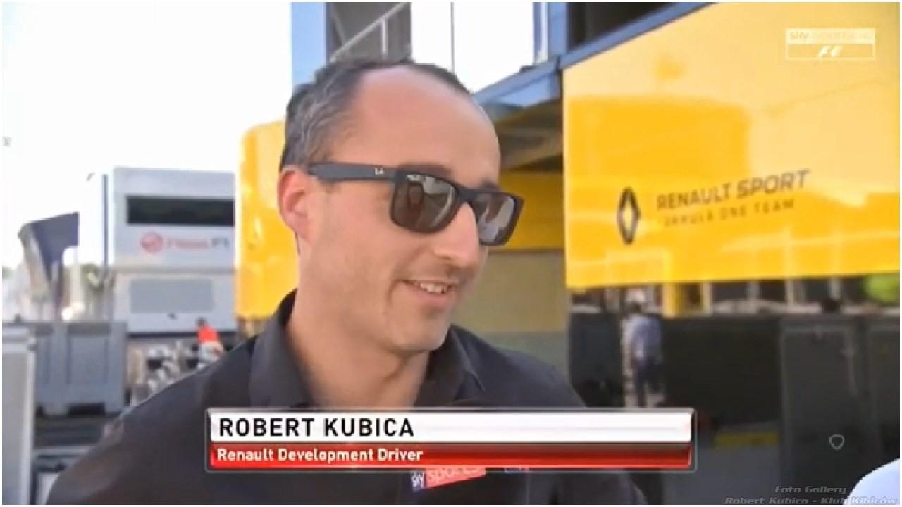 Robert Kubica - interview Sky Sport F1
