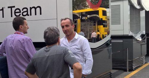 Robert Kubica w padoku na Monzie przed Italian GP 2017
