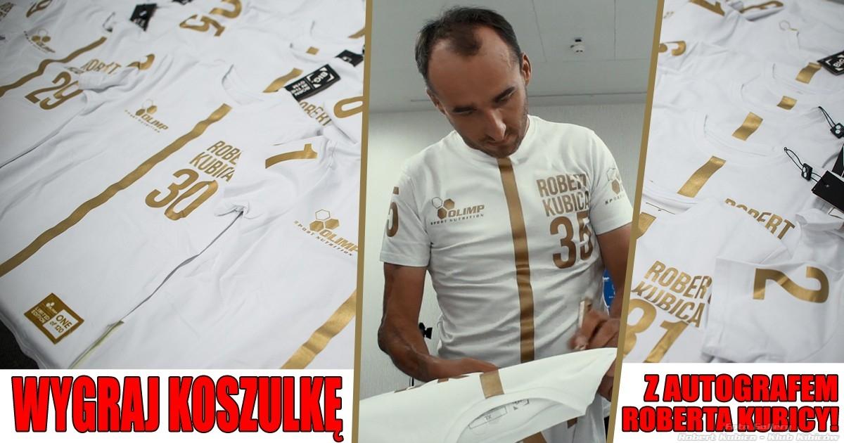 Wygraj Koszulke z Autografem Roberta Kubicy z Limitowanej serii One Of 120 - Olimp
