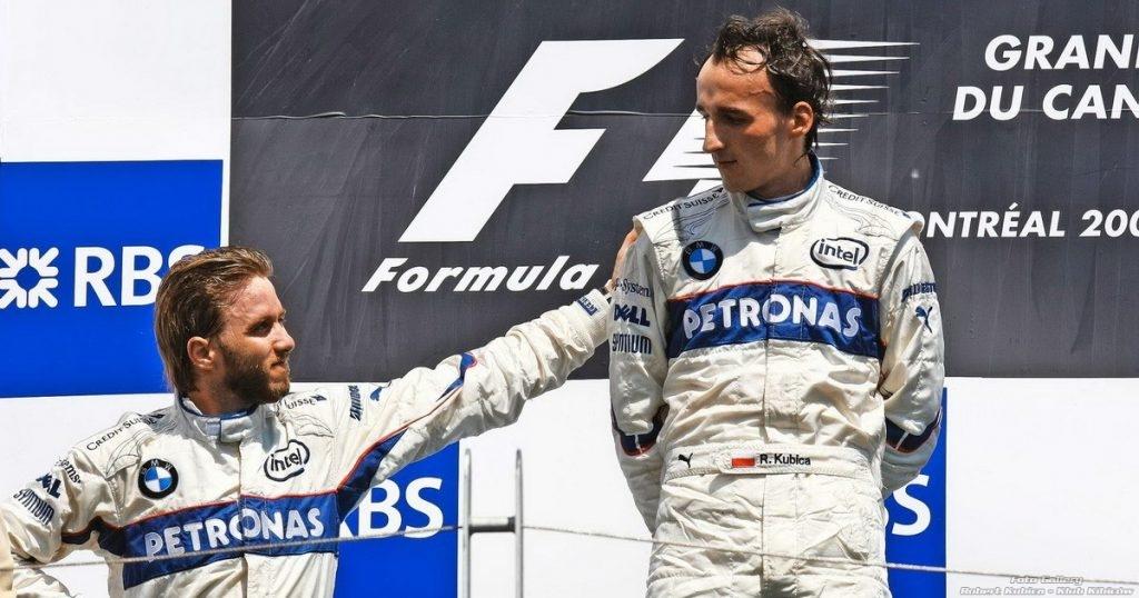 Kubica & Heidfeld - podium Montreal 2008