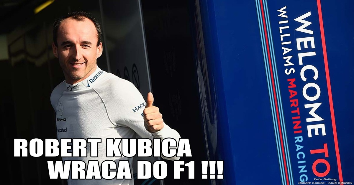 Robert Kubica wraca do F1