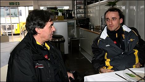 Dr Riccardo Ceccarelli and Robert Kubica. (Photo: WRI2)