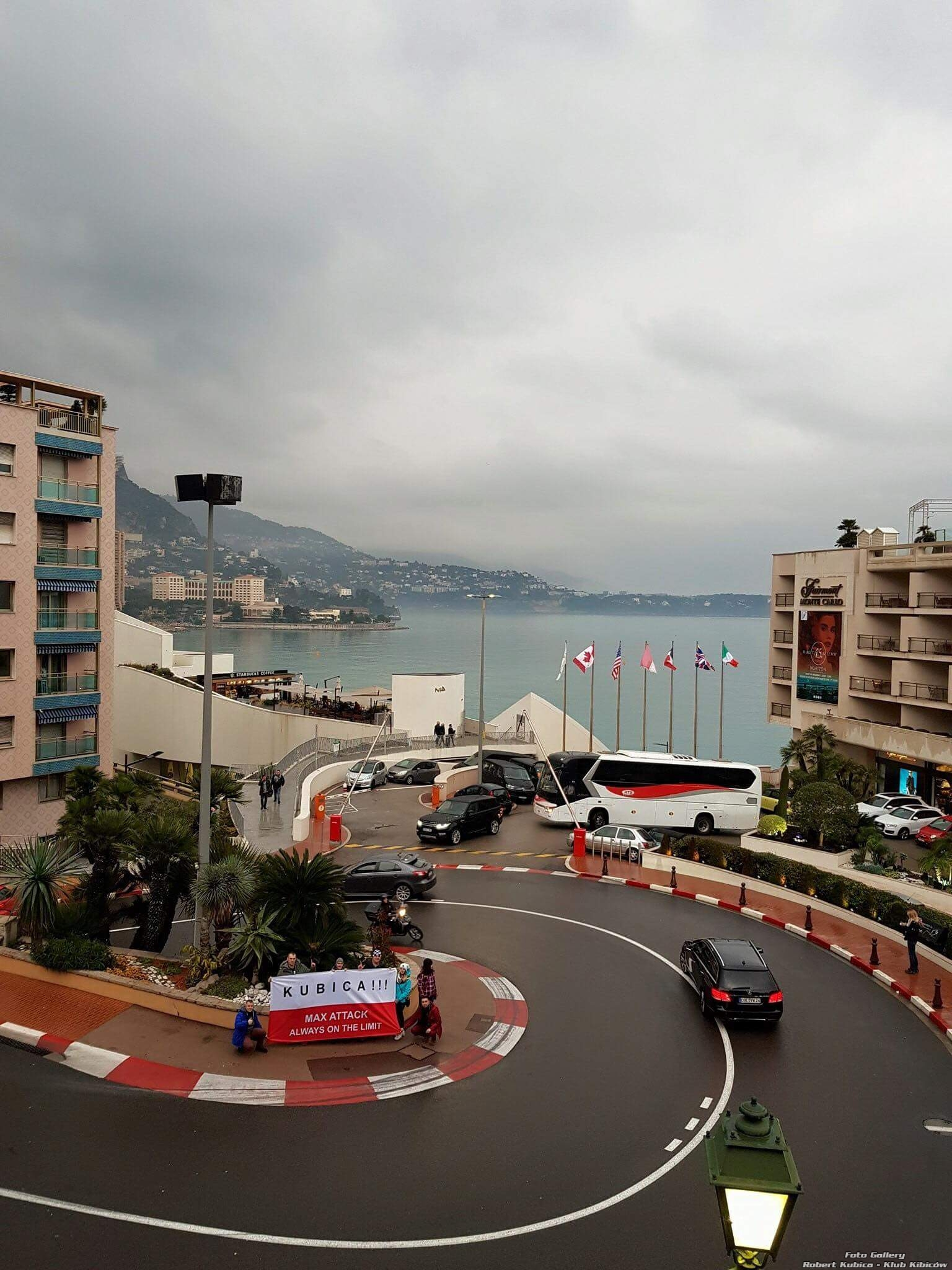 Kubica Monte Carlo F1 flaga