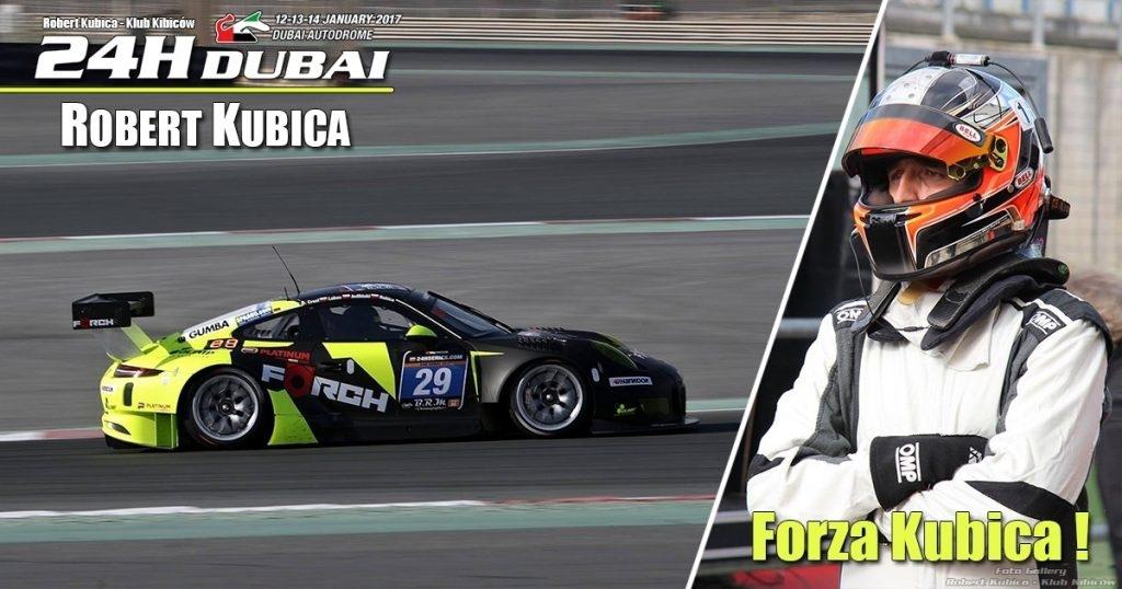 Robert Kubica w 24h Dubai 2017