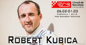 Kubica na przedsezonowych testach F1 w Barcelonie we wtorek i środę!